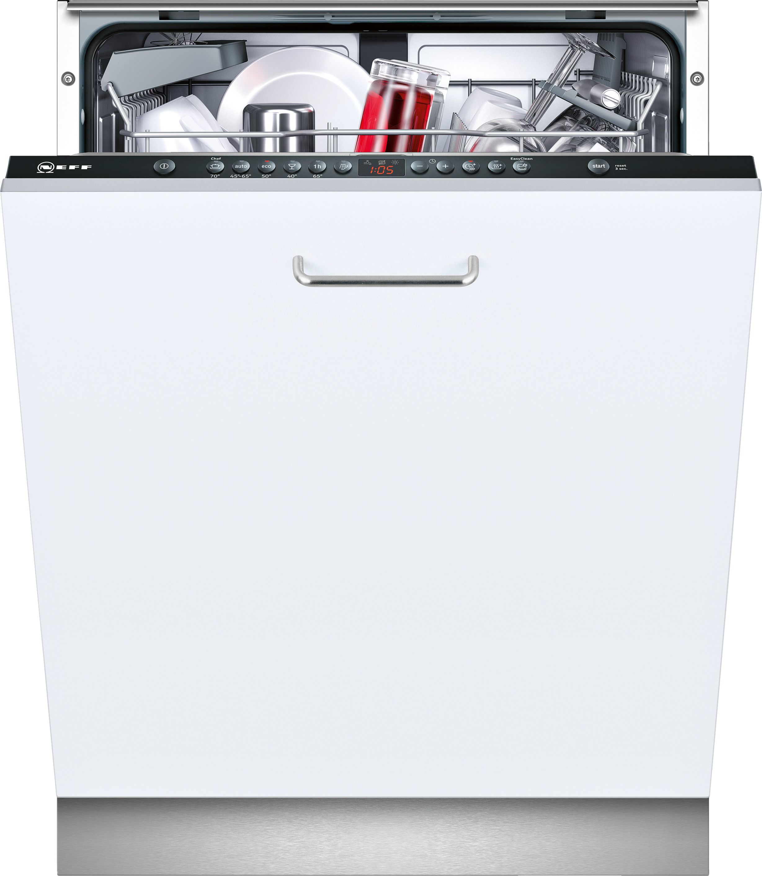 Neff S513g60x0g Integrated Built In Dishwasher White