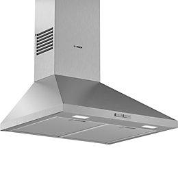 Bosch DWP64BC50B Stainless steel Chimney Cooker hood, (W)