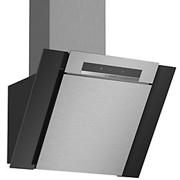 Bosch DWK67BM60B Stainless steel Chimney Cooker hood, (W)