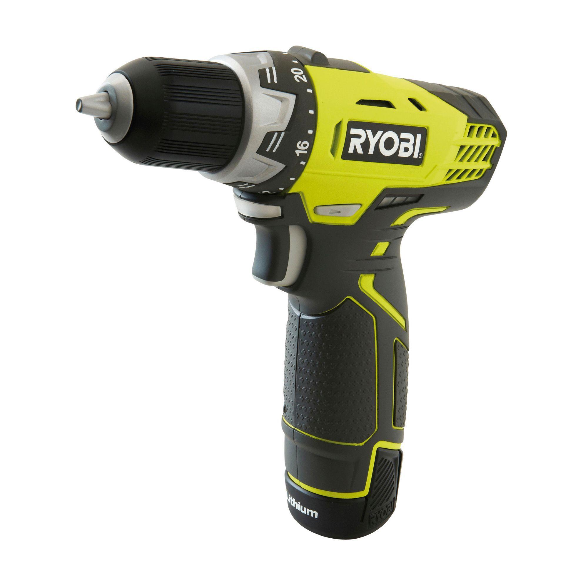 Ryobi cordless 12v 1 3ah li ion drill driver 1 battery for Cheap decking boards b q