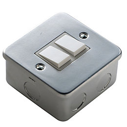 Marbo Comprehensive 6A 2-Way Double Metal-Clad Light Switch