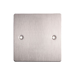 Holder Single Brushed Steel Blanking Plate