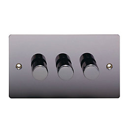 Holder 2-Way Triple Black Nickel Dimmer Switch