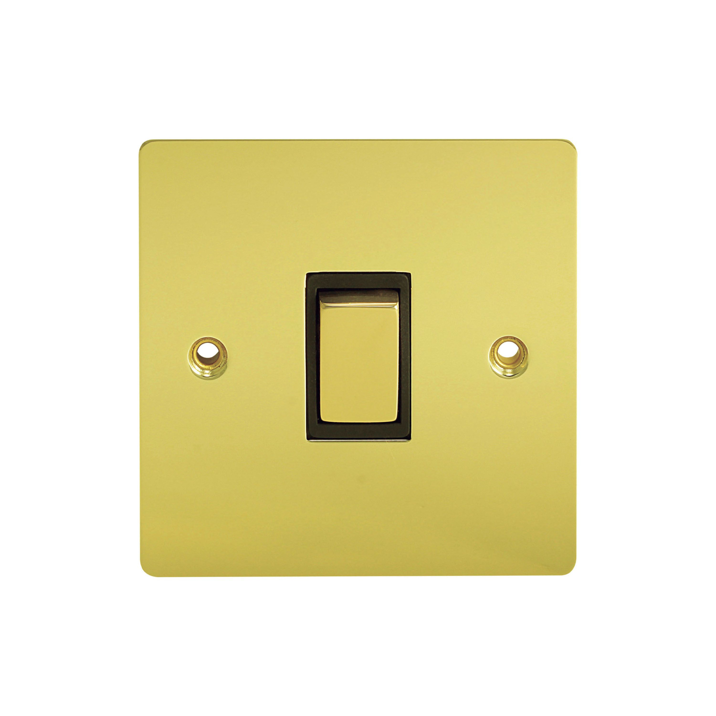 Holder 10a 2 Way Single Polished Brass Light Switch Departments Wiring Spur Diy At Bq