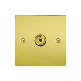 Holder 1-Way Single Polished Brass Touch Dimmer Switch