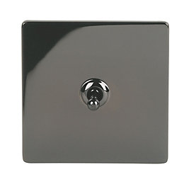 Holder 10A 2-Way Single Iridium Black Toggle Switch