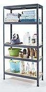 5 shelf Chipboard & steel Shelving unit (H)1800mm (W)900mm