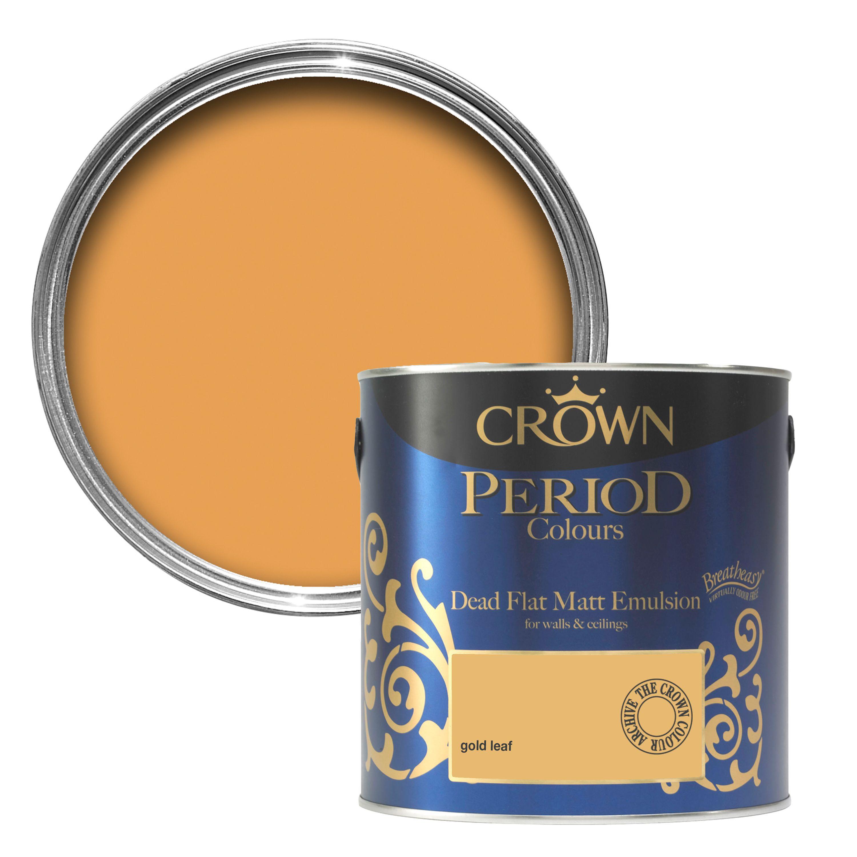 Crown Breatheasy Gold Leaf Matt Emulsion Paint 25L - Departments