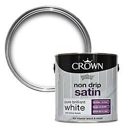 Crown Breatheasy Interior Pure Brilliant White Satin Wood