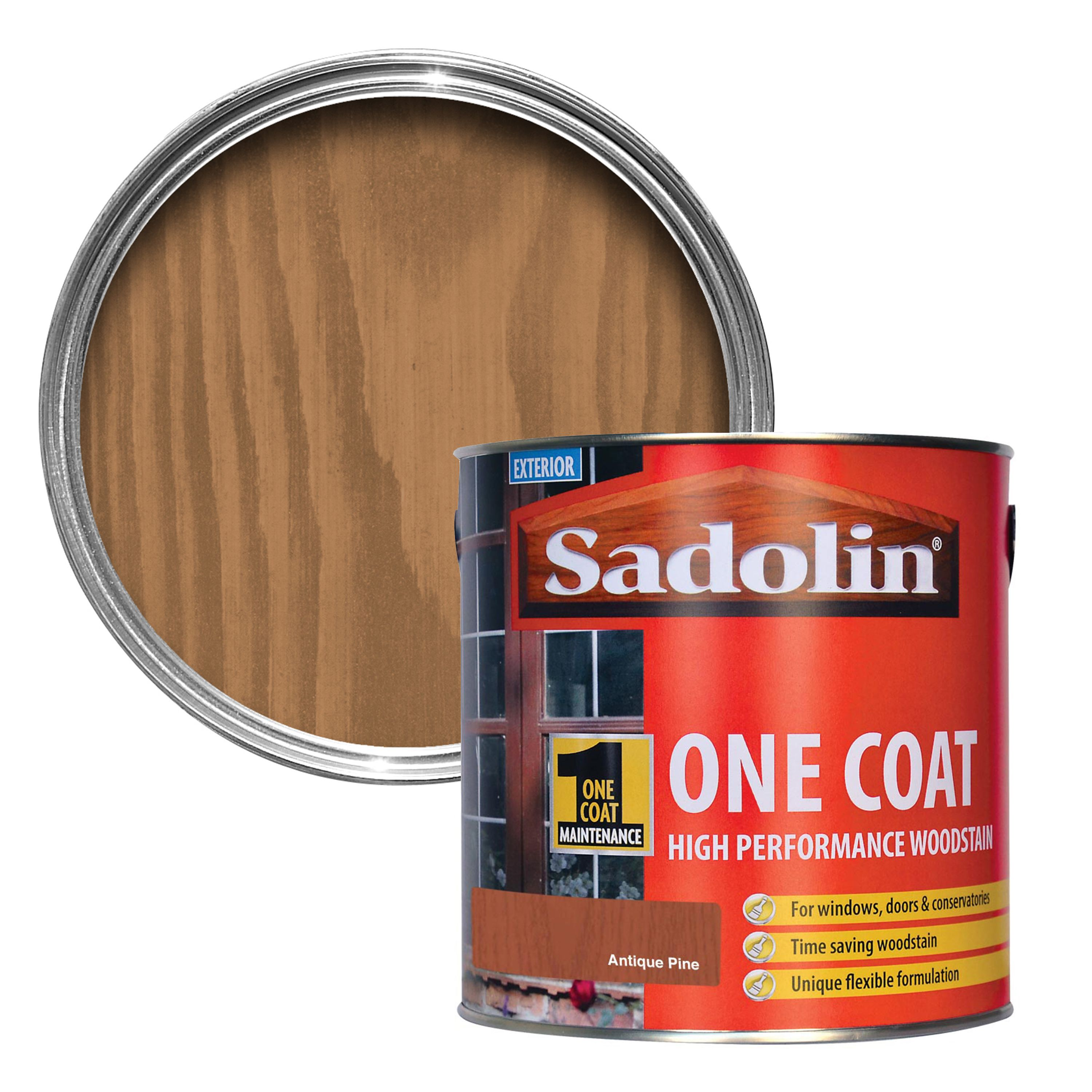 Sadolin antique pine semi gloss wood stain 2 5l departments diy at b q - Sadolin exterior wood paint image ...