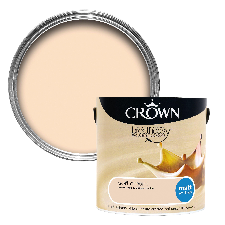 Crown Breatheasy Soft Cream Matt Emulsion Paint 2 5l