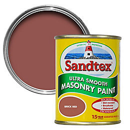 Sandtex Brick red Smooth Masonry paint 0.15L Tester