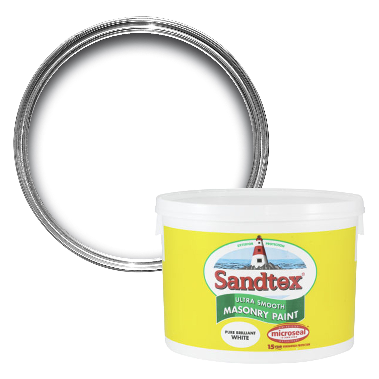 sandtex pure brilliant white smooth masonry paint 10l. Black Bedroom Furniture Sets. Home Design Ideas