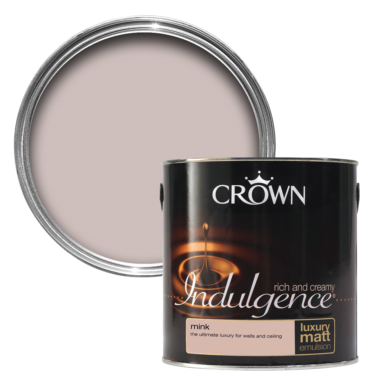 Crown Indulgence Mink Matt Emulsion Paint 2 5l