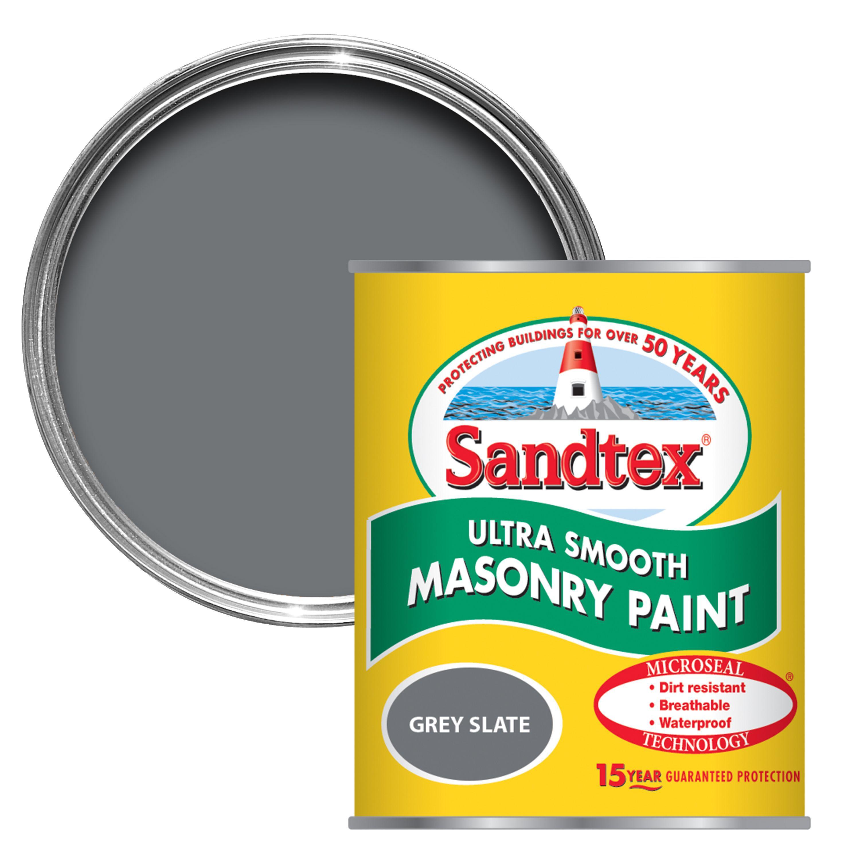 Sandtex Slate Grey Matt Masonry Paint 0 15l Departments