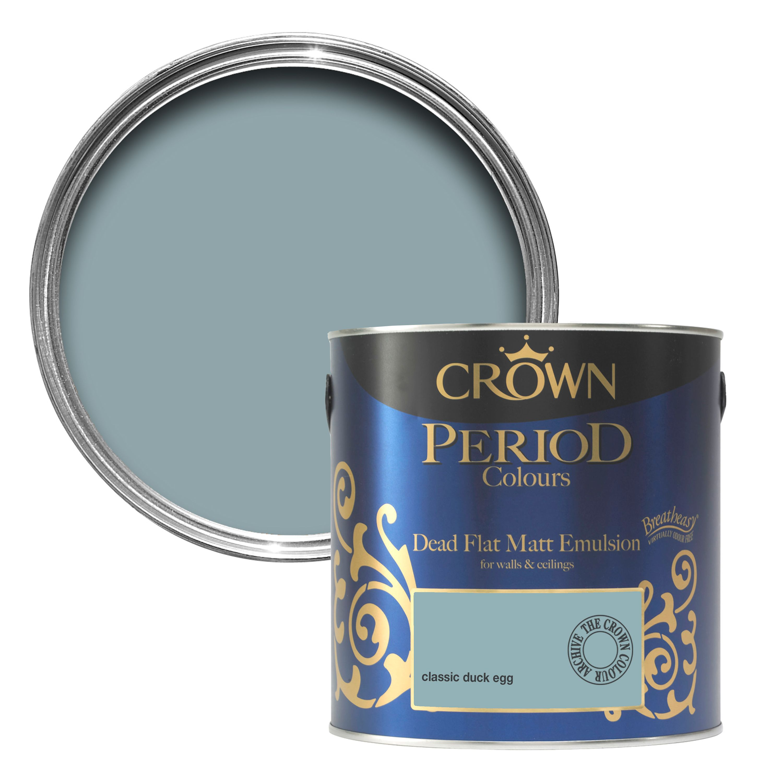 Crown Breatheasy Classic Duck Egg Matt Emulsion Paint 2 5l
