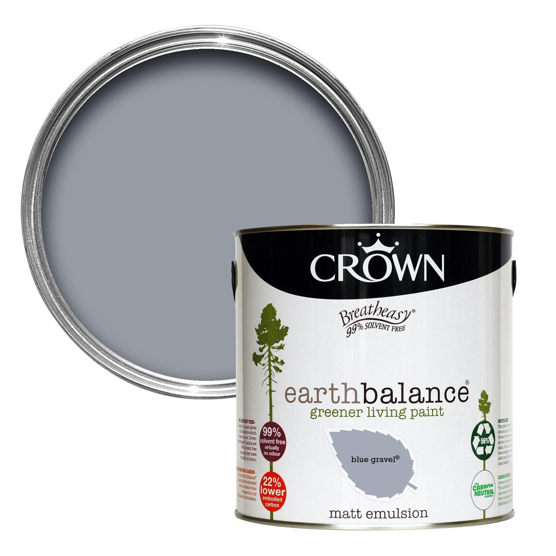 Crown Breatheasy Blue Gravel Matt Emulsion Paint 2 5l