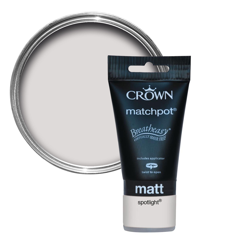 Crown Breatheasy Spotlight Matt Emulsion Paint 0 04L Tester Pot