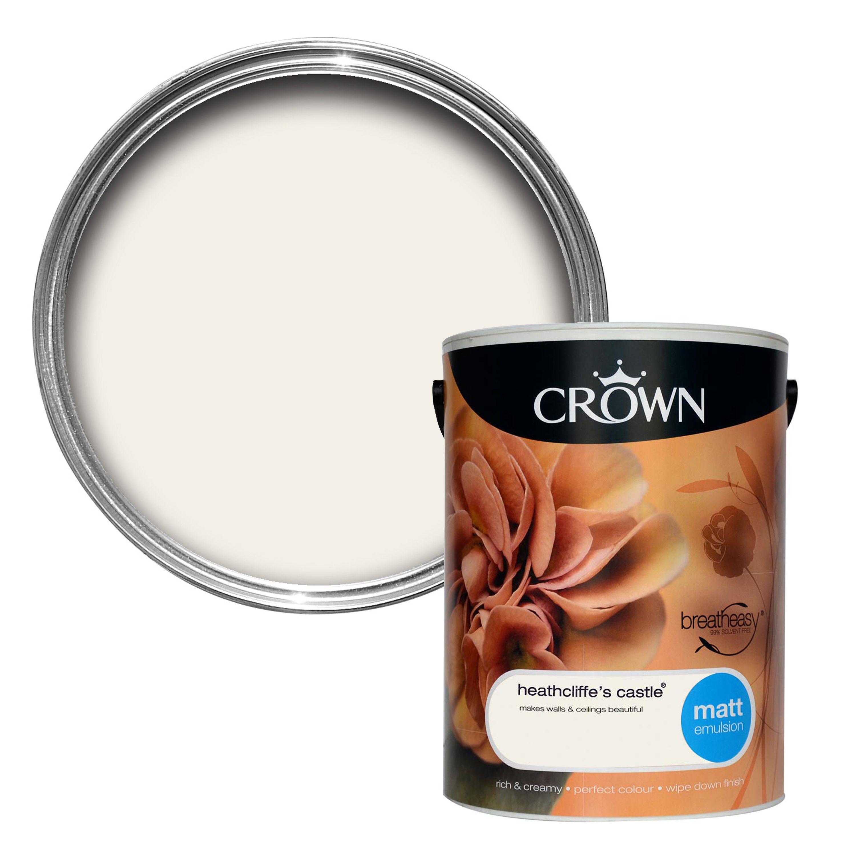 Crown Breatheasy Heathcliffe's Castle Matt Emulsion Paint 5L | Departments  | DIY at B&Q