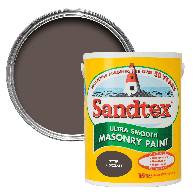 Sandtex Bitter Chocolate Brown Matt Masonry Paint 1l Departments Diy At B Q