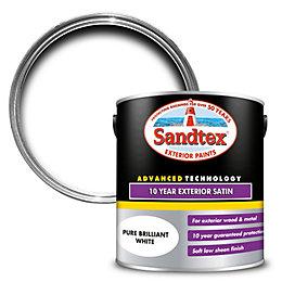 Sandtex 10 year White Satin Paint 2.5L