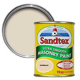 Sandtex Sandblast cream Smooth Masonry paint 0.15L Tester