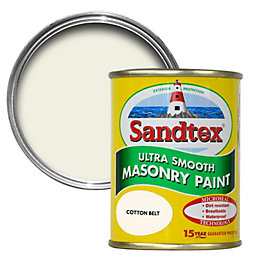 Sandtex Cotton belt cream Smooth Masonry paint 0.15L