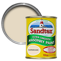 Sandtex Illus white Smooth Masonry paint 0.15L Tester