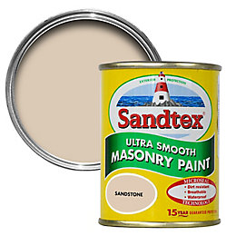 Sandtex Sandstone Beige Smooth Matt Masonry Paint 0.15L