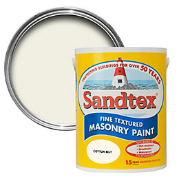 Sandtex Cotton belt cream Textured Masonry paint 5L