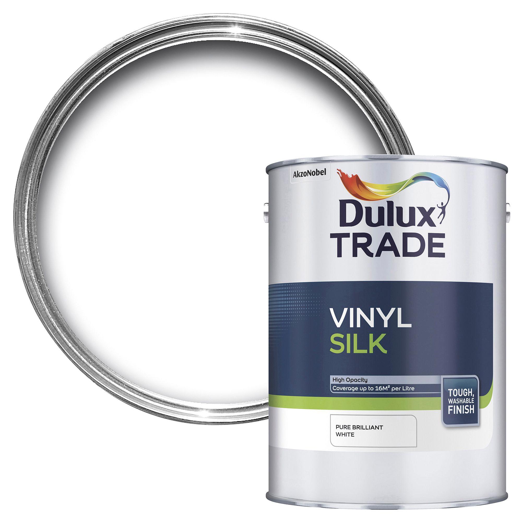 Dulux Trade Pure Brilliant White Silk Emulsion Paint 5l