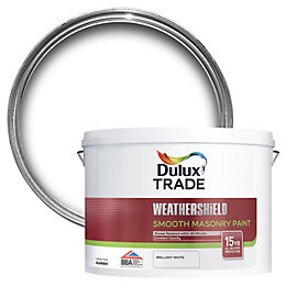 Dulux Trade Weathershield Pure brilliant white Smooth Masonry