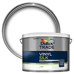 Dulux Trade Trade White Silk Emulsion Paint 10L