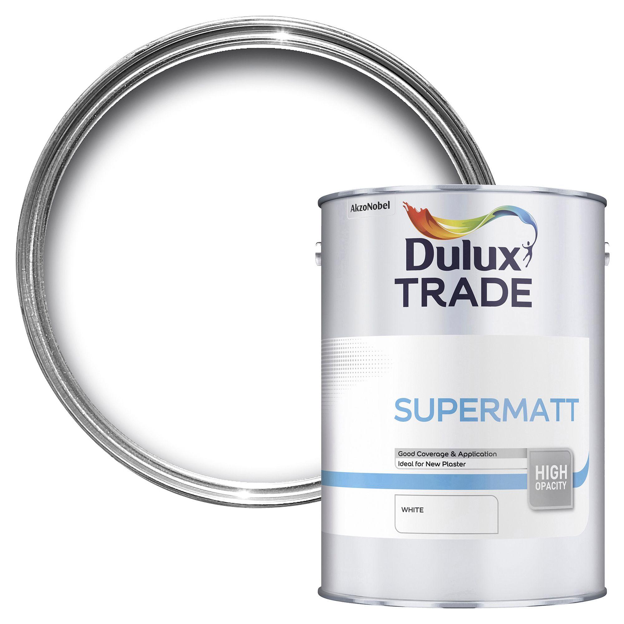Dulux Trade White Supermatt Emulsion Paint L