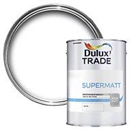 Dulux Trade White Supermatt Emulsion paint 5L