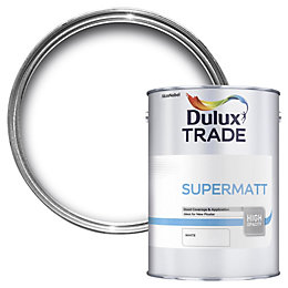 Dulux Trade White Supermatt Emulsion paint 5L