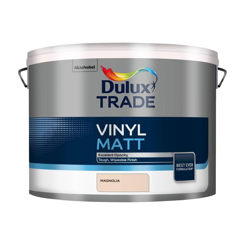 Dulux Trade Trade Magnolia Matt Emulsion Paint 10L | Departments | DIY at  B&Q