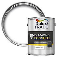 Dulux Trade Diamond Pure brilliant white Eggshell Wood & metal paint 5L