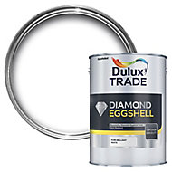 Dulux Trade Diamond Brilliant white Eggshell Wood & metal paint 2.5L