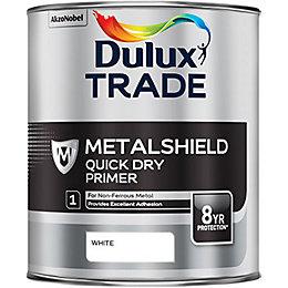 Dulux Trade One coat White Matt Metal Acrylic