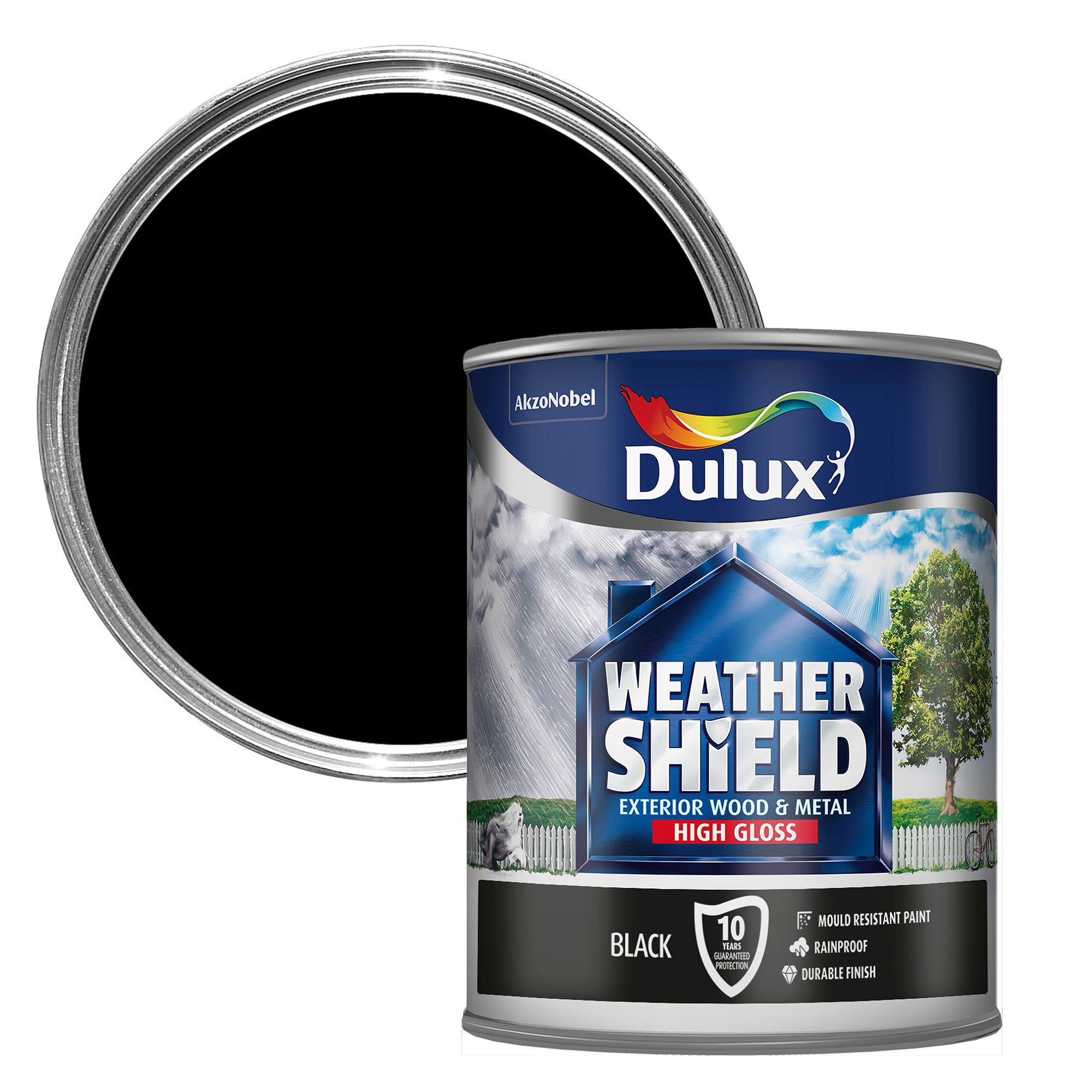 Dulux Weathershield Exterior Black Gloss Wood Metal Paint Departments Tradepoint