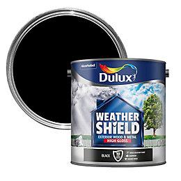 Dulux Weathershield Black Gloss Wood & metal paint