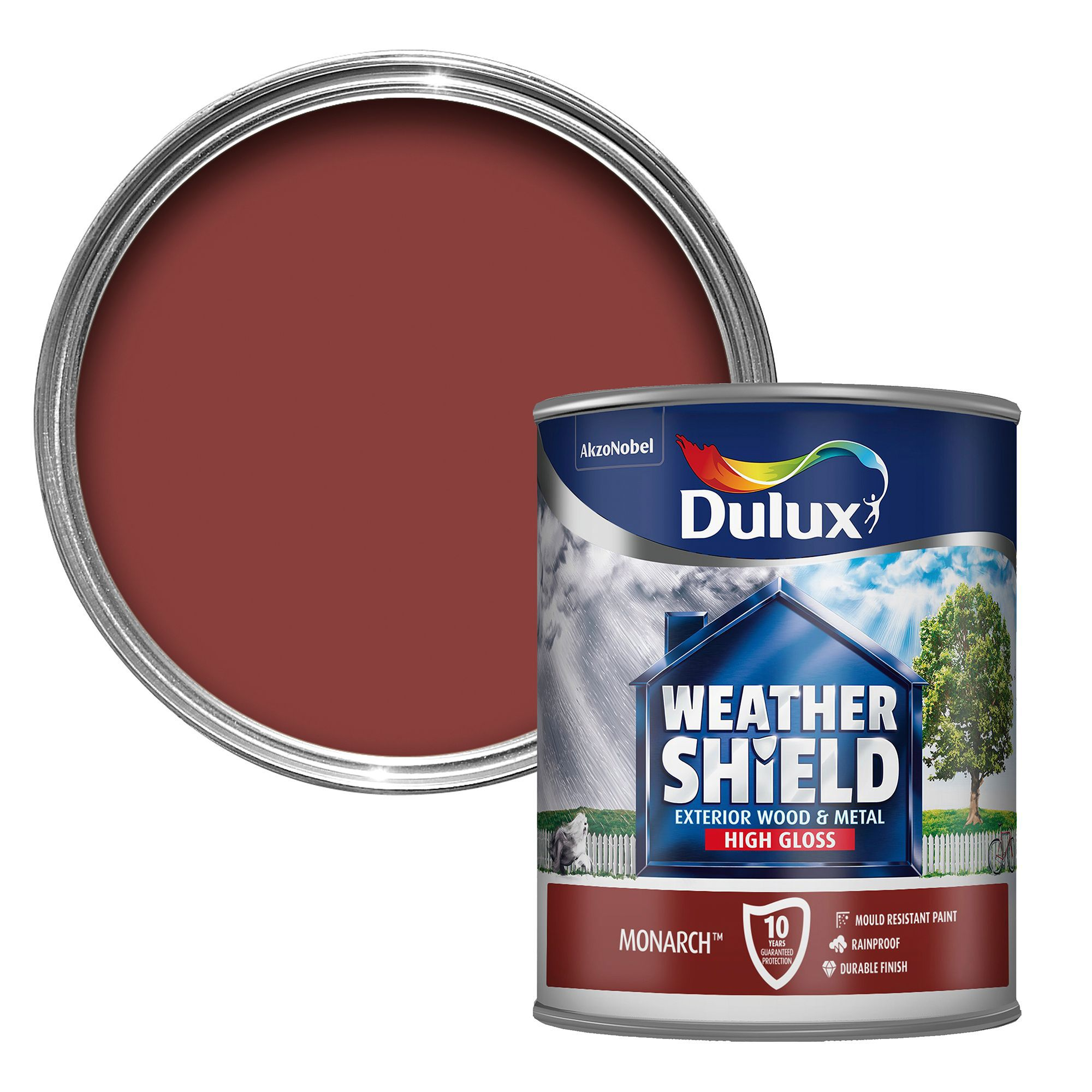 Dulux Weathershield Exterior Monarch Red Gloss Wood Metal Paint 750ml Departments Diy At B Q