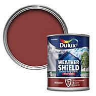 Dulux Weathershield Monarch red Gloss Wood & metal paint 0.75L