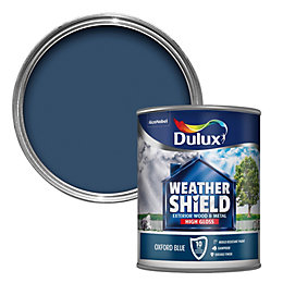 Dulux Weathershield Oxford blue Gloss Wood & metal