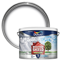 Dulux Weathershield Pure Brilliant White Smooth Matt Masonry