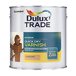 Dulux Trade Clear Gloss Wood Varnish 1000ml Tin