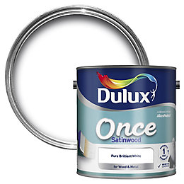 Dulux Interior Pure Brilliant White Satinwood Wood &