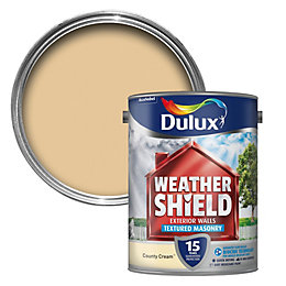 Dulux Weathershield Country Cream Textured Masonry Paint 5L