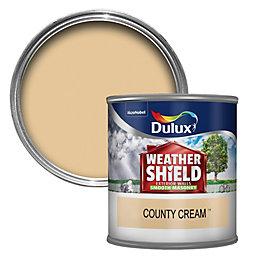 Dulux Weathershield County cream Smooth Masonry paint 0.25L